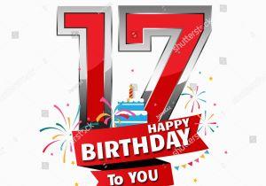 17 Year Old Birthday Cards Happy Date Fun Celebration Stock Vektor