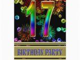 17th Birthday Invitation Ideas 17th Birthday Party Invitation with Bubbles Zazzle