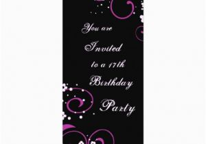 17th Birthday Invitation Ideas Floral 17th Birthday Party Invitations 4 Quot X 9 25