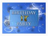 17th Birthday Party Invitations 17th Abstract Lights Birthday Party Invitation Zazzle