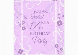 17th Birthday Party Invitations Lavender Floral 17th Birthday Party Invitations 5 Quot X 7