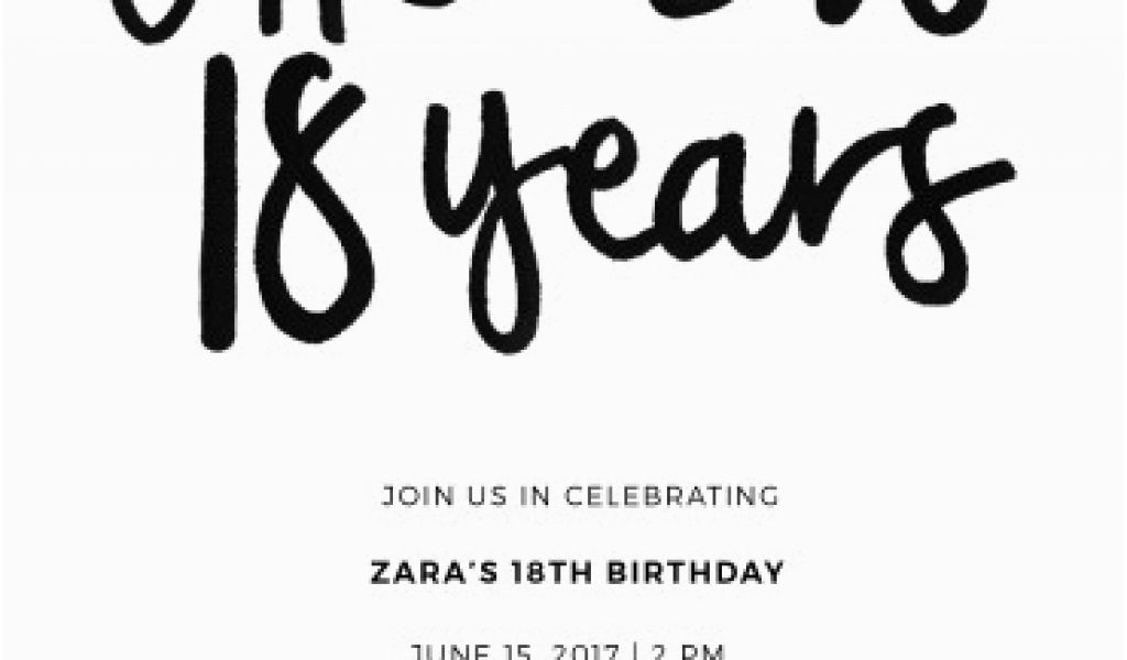 Download By SizeHandphone Tablet Desktop Original Size Back To 18 Year Old Birthday Party Invitations