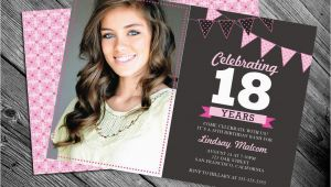 18 Year Old Birthday Party Invitations 18th Birthday Invitation