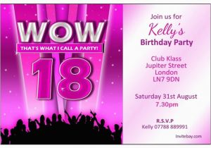 18 Year Old Birthday Party Invitations 18th Birthday Party Invitations Home Personalised Girl