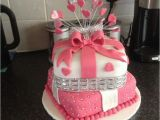 18th Birthday Cake Decorations Uk 18 Th 2 Tier Cake I Made Pinteres