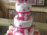 18th Birthday Cake Decorations Uk 3 Tier 18th Birthday Cake In Pink White Silver with