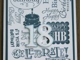 18th Birthday Cards for Boys Stampin Up 18th Birthday Cards 2016 Birthday Cards