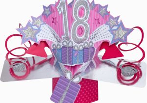 18th Birthday Cards for Girls 3d Pop Up Card Happy 18th Birthday Girl Celebration 18