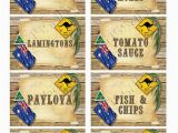 18th Birthday Gifts for Him Australia Outback Australia Day Party Labels Instant by