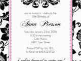 18th Birthday Invitation Card Designs 18th Birthday Party Invitation Adult Birthday Invitations