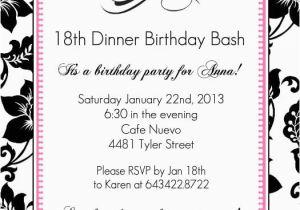 18th Birthday Invitation Templates Printable Free 18 Template