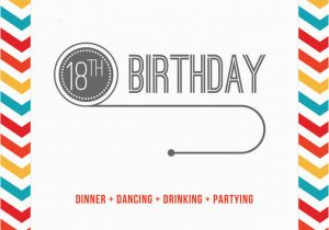 18th Birthday Invitation Templates Printable Free Template