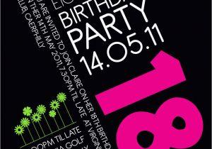 18th Birthday Invitation Wording Ideas 18th Birthday Invitation Idea Party Pinterest
