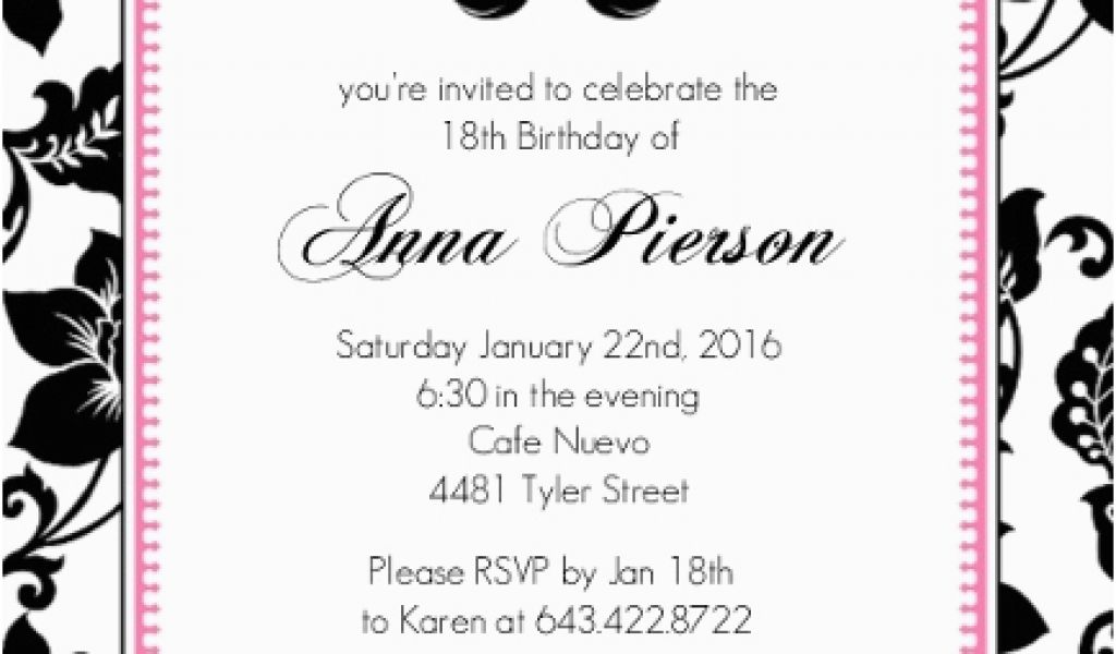 Download By SizeHandphone Tablet Desktop Original Size Back To 18th Birthday Invitation Wording Ideas