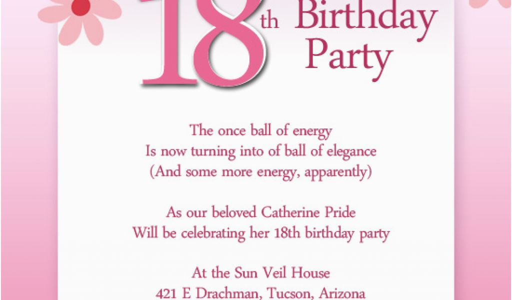 Download By SizeHandphone Tablet Desktop Original Size Back To 18th Birthday Invitation Wording Samples