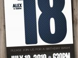 18th Birthday Invitations for Guys Items Similar to 18th Birthday Party Invitation for Man