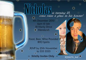 18th Birthday Invitations For Guys Personalised Guy 39 S 21st Invitation