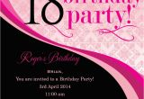 18th Birthday Party Invitation Ideas 18th Birthday Invitation Wording Ideas