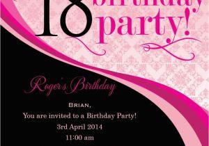 18th Birthday Party Invitation Ideas 18th Birthday Invitation Wording Ideas
