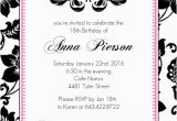 18th Birthday Party Invitation Ideas 18th Birthday Party Invitation Adult Birthday Invitations