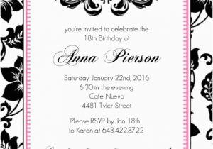 18th Birthday Party Invitation Ideas 18th Birthday Party Invitation Adult Birthday Invitations