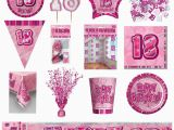 18th Birthday Party Supplies and Decorations 18th Pink Glitz Birthday Party Supplies Decorations