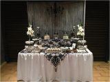 18th Birthday Table Decorations Black and White Elegant 18th Birthday Lolly Dessert Buffet