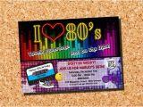1980s Birthday Party Invitations 1980s Invitation 80s Invitation 1980s Birthday Invitation