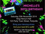 1980s Birthday Party Invitations Best 25 1980s Party Invitations Ideas On Pinterest 80s