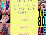 1980s Birthday Party Invitations Items Similar to Blank 80 39 S Costume Party Invitations