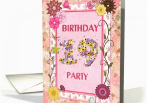 19th Birthday Invitations 19th Birthday Party Flowers and butterflies Card 945628