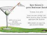 19th Birthday Invitations 19th Hole Martini Party Invitations Golf Invitations