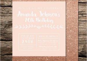 19th Birthday Invitations Birthdays Birthday Invitations and Rose Gold On Pinterest