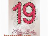 19th Birthday Invitations Free Printable Birthday Cards for Granddaughter Free