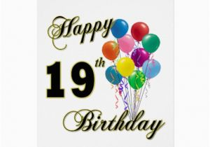 19th Birthday Invitations Happy 19th Birthday Merchandise Greeting Card Zazzle
