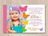 1st Birthday butterfly Invitations Birthday Invites butterfly Birthday Invitations Free