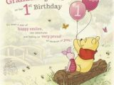 1st Birthday Cards for Granddaughter Winnie the Pooh for A Very Special Granddaughter On Her