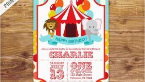 1st Birthday Circus Invitations First Birthday Carnival Invite Circus Invitation Carnival