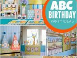 1st Birthday Decorations for Boys Abc themed 1st Birthday Party Spaceships and Laser Beams