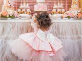 1st Birthday Decorations for Girls Kara 39 S Party Ideas Pink Gold 1st Birthday Party Kara 39 S
