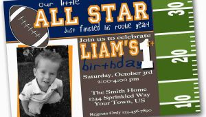 1st Birthday Football Invitations Items Similar to Football Birthday Invitation Football