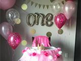 1st Birthday Girl Decorating Ideas First Birthday Party isabella Pinte