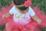 1st Birthday Girl Outfits Tutu First Birthday Outfit Girl Birthday Tutu Outfit Coral and