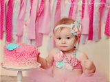 1st Birthday Girl Pictures Pink Aqua Birthday Tutu and Headband Outfit 1st