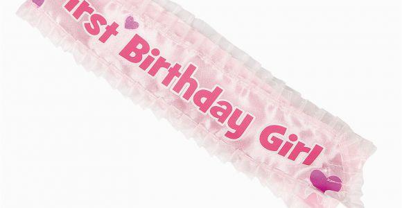 1st Birthday Girl Sash 1st Birthday Girl Sash Apparel Costume Accessories