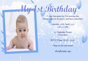 1st Birthday Invitation Card For Baby Boy Online Personalised Photo Invitations Design 8