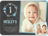 1st Birthday Invitation Card for Baby Boy Online Stellar Birthday Boy First Birthday Invitation Shutterfly