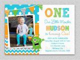 1st Birthday Invitation for Boys Boys 1st Birthday Invitation Monster 1st Birthday Invitation