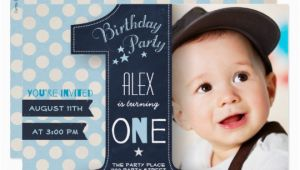 1st Birthday Invitation for Boys First Birthday Party Invitation Boy Chalkboard Zazzle Com Au