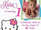 1st Birthday Invitation Maker Best 25 Hello Kitty Invitations Ideas On Pinterest